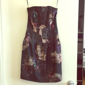 H&M strapless floral dress